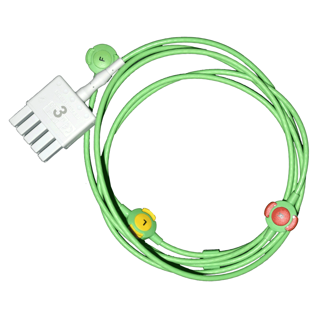 3-adr. EKG-MonoLead-Kabel an MultiMed 5 Pod-Kabel | GOLMED